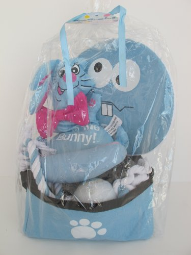 5 Piece Dog Easter Basket Gift Set - Beautiful Blue