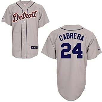 MLB Detroit Tigers Miguel Cabrera Road Gray Replica Baseball Jersey, Road Gray by Majestic