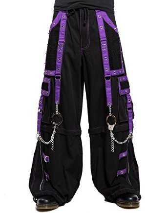 Tripp Men's Baggy Bondage Rave Techno Goth Industrial Pants (36-38 XL)
