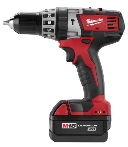 Milwaukee 2602-22DC M18 18-Volt 1/2-Inch Cordless Hammer Drill Driver Kit with AC/DC Charger