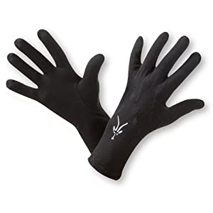 Ibex Unisex Glove Liner (Black,X-Small)