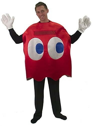 Adults Deluxe Pac-Man Blinky Ghost Costume
