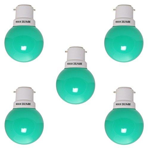 0.5W LED Bulb (Green, Pack of 5)
