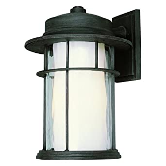 Trans Globe 5292 RT One Light Outdoor Wall Mount, Rust Finish with Opal Glass