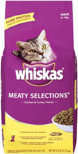 Whiskas Meaty Selections Dry Cat Food, 6-Pound