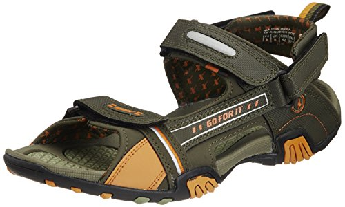 Sparx-Mens-Olive-and-Orange-Sandals-and-Floaters-8-UK-SS-430