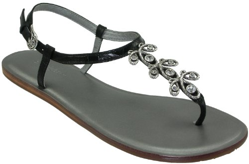 a575b5be2f0ff Brighton Oyster Women s Black Pewter Flat Thong Sandals Sale Brighton  Oyster in Pewter or Black Crocodile Printed Leather. Original Brighton  design ...