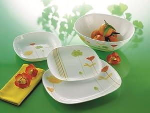 service vaisselle arcopal encanta 19pcs luminarc d9770 cuisine maison. Black Bedroom Furniture Sets. Home Design Ideas