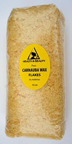 Carnauba Wax Organic Flakes Brazil Pastilles Beards Premium Prime Grade A 100% Pure 16 oz, 1 LB (Carnauba Wax Organic compare prices)