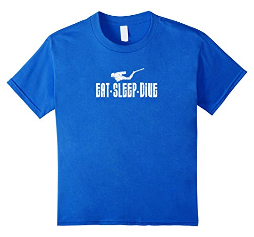 Kids Eat Sleep Dive T-shirt Scuba Diver Humor Shirt 6 Royal Blue (Shark Tank Sleep Mask compare prices)