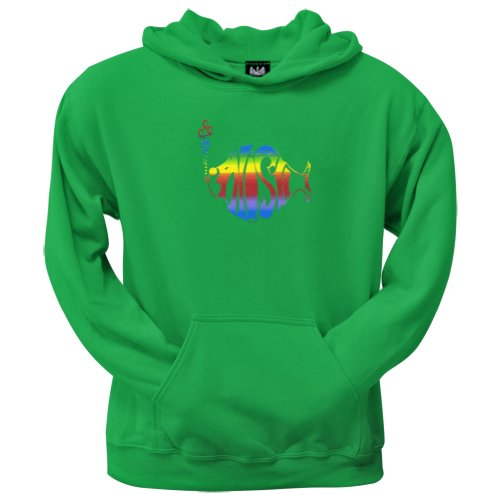 Old Glory Men's Phish - Rainbow Logo Kelly Green Pullover Hoodie - 2X-Large Green