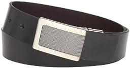 Kenneth Cole REACTION Men\'s Reversible Plaque Buckle Belt,Black/Brown,32