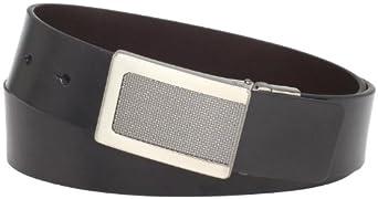 Kenneth Cole REACTION Men's Reversible Plaque Buckle Belt,Black/Brown,32