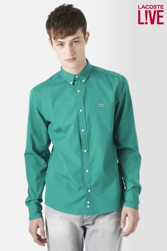 L!VE Long Sleeve Poplin Basketweave Shirt