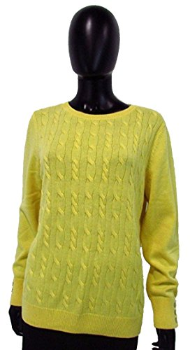 talbots-canary-yellow-cable-knit-sweater-sz-xl