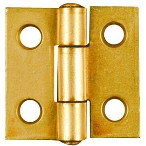 """National Hardware V518 1"""" Non-Removable Pin Hinge In Brass front-675419"""