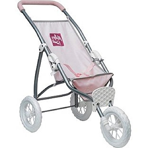 Pink Three Wheel Pram / Pushchair for Dolls