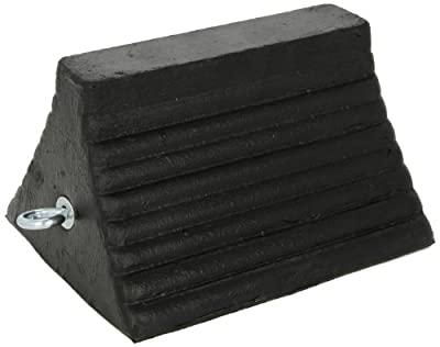 Checkers Roadblock RC815 Rubber Wheel Chock with Void Bottom, Black, 10-Inch Length x 8-Inch Width x 6-Inch Height