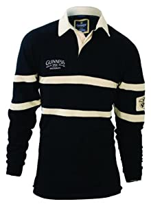 Guinness Traditional Rugby Jersey Black & Cream, 2XL