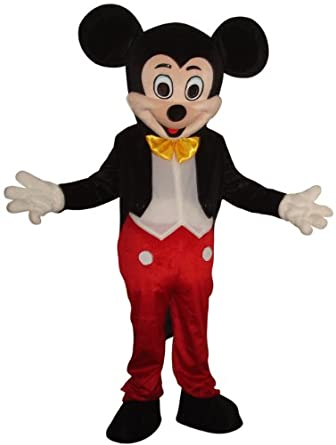 Amazon.com: New Mickey Mouse Mascot Costume Adult Size ...
