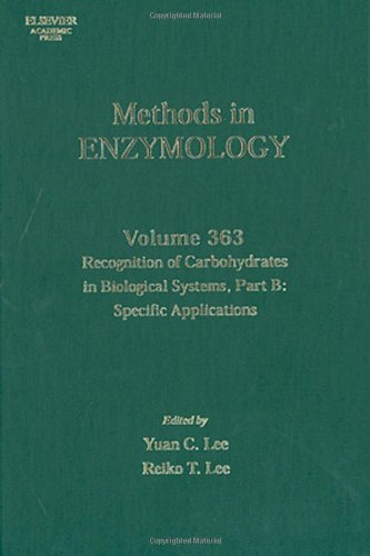 Recognition Of Carbohydrates In Biological Systems, Part B: Specific Applications, Volume 363 (Methods In Enzymology)