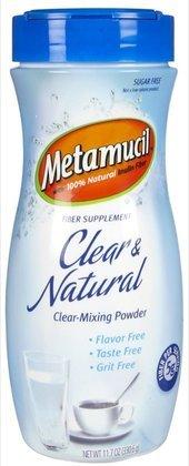 Metamucil Clear & Natural Clear-Mixing Fiber Powder, 57 Doses (Quantity Of 3)