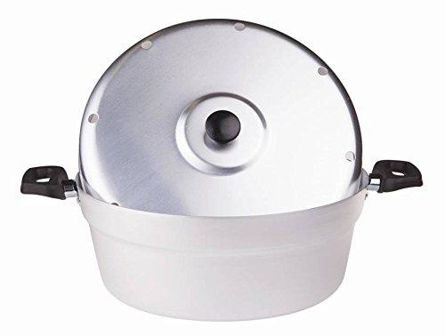 Pentole Agnelli Fornetto per Dolci in Alluminio BLTF, con Coperchio e Piastra in Ferro, Argento, Piccolo (26 cm)
