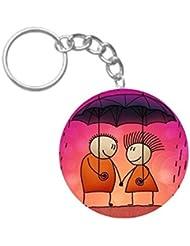Rain Love | ShopTwiz Printed Circle Key Ring