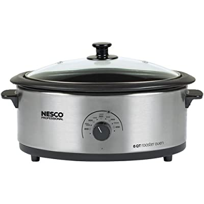 1 - 6-Quart Nonstick Roaster Oven (Stainless Steel)