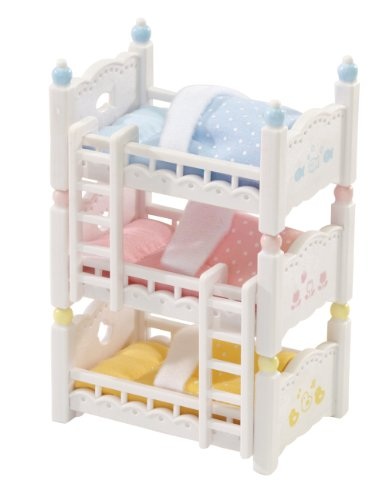 Calico Critters Triple Baby Bunk Beds - 1