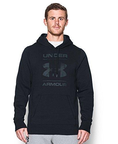 Under Armour Men's UA Rival Fleece Logo Hoodie Medium Black