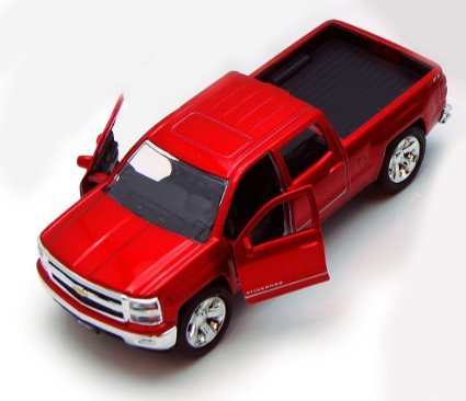 Chevy Silverado Pickup Truck, Red - Jada Toys Just Trucks 97017 - 1/32 scale Diecast Model Toy Car (Chevy Toy Trucks compare prices)
