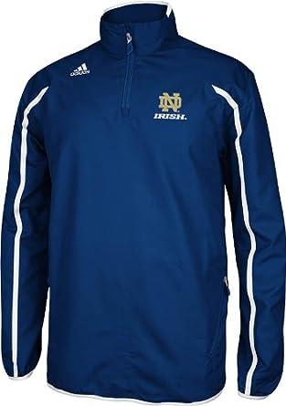 Notre Dame Adidas Navy Sideline Quarter Zip Jacket by adidas