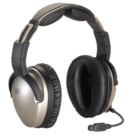 Lightspeed ZULU Premium ANR Aviation Headset (Battery Power, Straight cord, Standard Dual GA Plugs)
