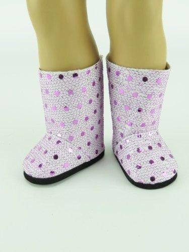 Lavender Sequin Boots  Fits 18