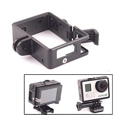 Jajay G-473 Specialty Portable Plastic Fixed Frame Case W/Bacpac Installation Elongated Arm For Gopro Hero 3/3+ , Black