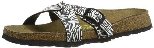 Papillio by Birkenstock Womens Catania Birko Flor Fashion Sandals 291083 BF DD Zebra Black 7 UK, 40 EU, Narrow