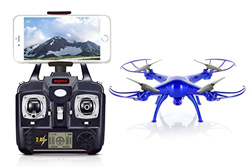 Syma-X5SW-With-Wifi-FPV-HD-Camera-24G-4CH-6Axis-Headless-Mode-RC-Quadcopter-Blue