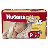 Huggies Supreme Little Snugglers, Preemies, 60 (2 PACKS of 30)