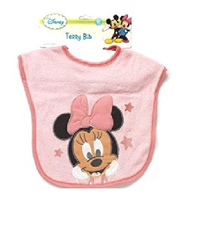 Minnie Mouse Deluxe Terrycloth Pullover Bib - 1