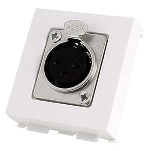 XLR 3P Mujer chasis de montaje en panel Conector: Musical Instruments
