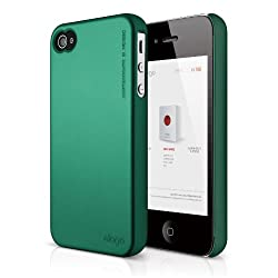 elago S4 Slim Fit 2 Case for iPhone 4/4S - Semigloss Metalic Green + HD Professional Extreme Clear film