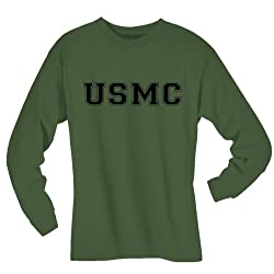 USMC Athletic Marines L/S T-Shirt in Military Green