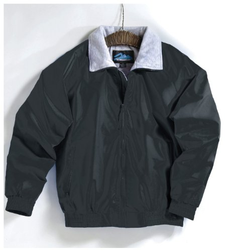 Clipper Jacket with Jersey Lining, Color: Black, Size: XXX-Large Tall