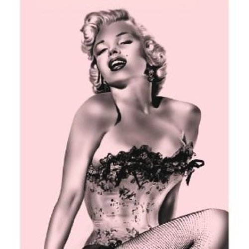 Marilyn Monroe Fleece Throw Blanket With Beach Towel - Pink Fishnet front-957259