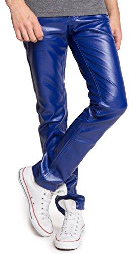 ragstock-mens-metallic-shiny-jeans-38-matte-blue-0135
