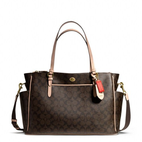 Coach Peyton Signature Multifunction Tote F26181 and Diaper Bag