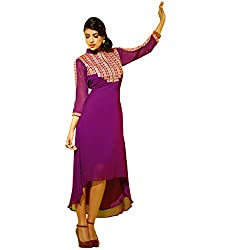 The Ethnic Chic Women's Magenta Color Faux Georgette Kurti.