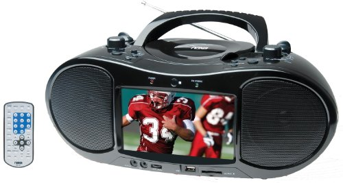 7 Inch Naxa NDL-254 AC/DC Digital TV Portable DVD Player with AM/FM Stereo Radio & USB/SD/MMC Inputs