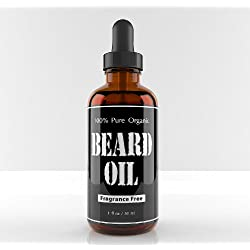 Funny product Beard Oil and Conditioner, Fragrance Free, Glass Bottle with Glass Dropper, Gives You a Respectable Beard That Is Healthy Looking, and Kissable